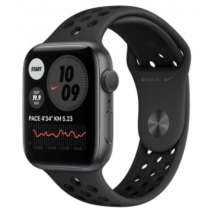 Apple Watch Nike SE GPS + Cellular 40mm Space Gray Aluminum Case w. Anthracite/Black Nike Sport B. (MYYU2)