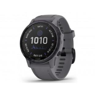 Спортивные часы Garmin Fenix 6S Pro Solar Edition Amethyst Steel with Shale Gray Band (010-02409-15)