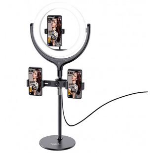 Кольцевая настольная лампа Hoco LV01 Black