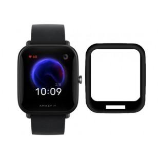 Защитное стекло 3D для Xiaomi Amazfit Bip U (Черный)