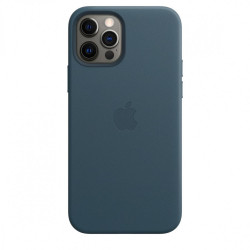 Кожаный чехол iPhone 12/12 Pro Leather Case with MagSafe - Baltic Blue (MHKE3)