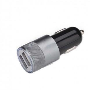 АЗУ 2*USB  2А Black