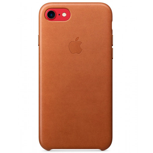 Чехол Apple Leather Case IPhone 7 Saddle Brown (MMY22ZM/A)