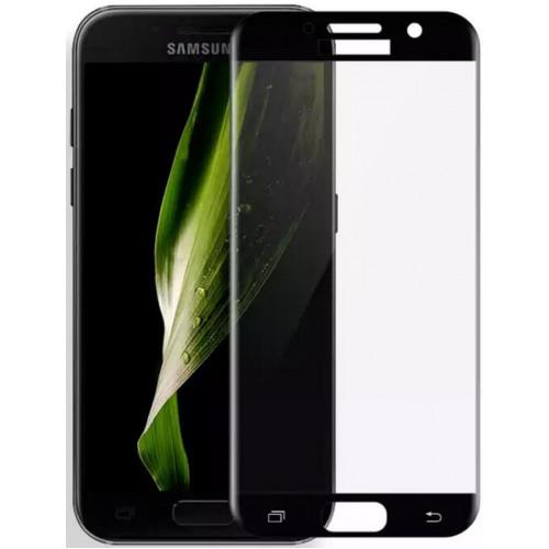Защитное стекло 3D Samsung Galaxy J7 Prime/G610 Fiber (Black) Fiber