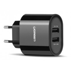 СЗУ 2*USB 2.4 A Ugreen black