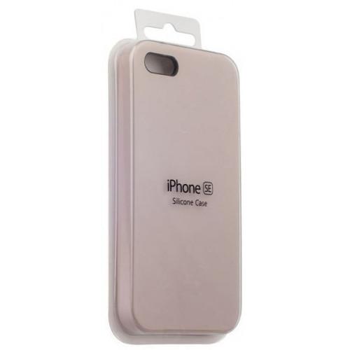 Силикон Apple iPhone SE Original Бежевый