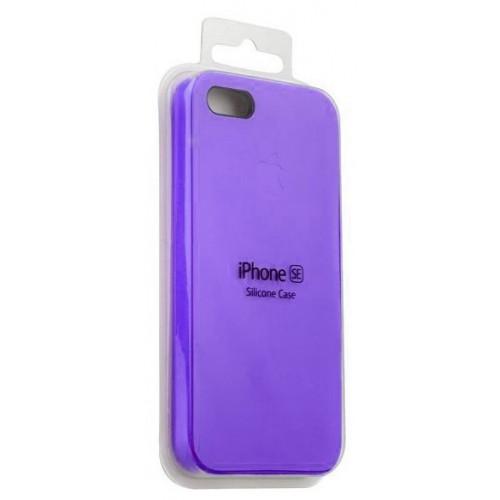 Силикон Apple iPhone SE Original Фиолетовый