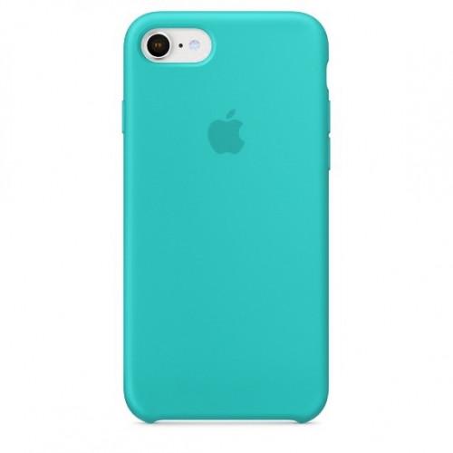 Силиконовый чехол Apple Silicone Case IPhone 7/8 Аквамарин (1:1)