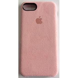 Силиконовый чехол Apple IPhone 7/8 Alcantara Flamingo