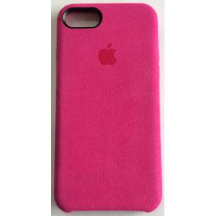 Силиконовый чехол Apple IPhone 7/8 Alcantara Dark Pink