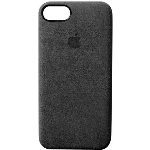 Силикон iPhone 7/8 Plus Алькантара (черный)