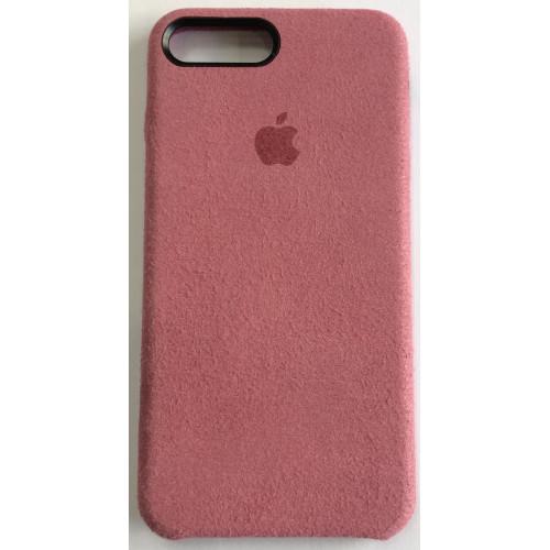 Силикон iPhone 7/8 Plus Алькантара (розовый)