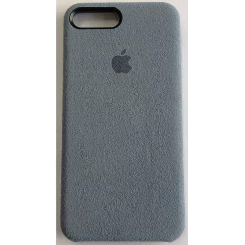Силикон iPhone 7/8 Plus Алькантара (серый)