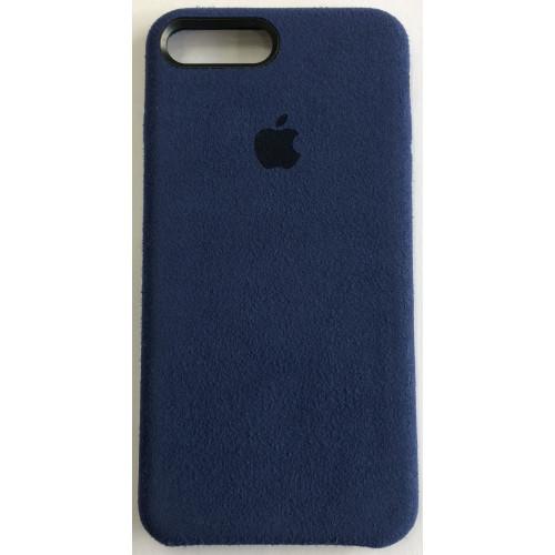 Силикон iPhone 7/8 Plus Алькантара (темно-синий)