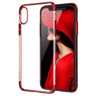 Силикон Apple iPhone X Cafele (красный)
