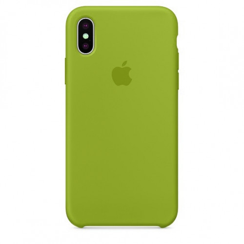 Силиконовый чехол Apple Silicone Case Olive (1:1) для iPhone X / XS