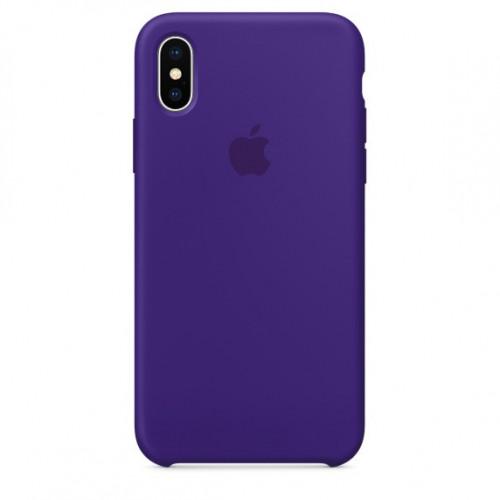 Силикон Apple iPhone X / XS Original Ультрафиолетовый