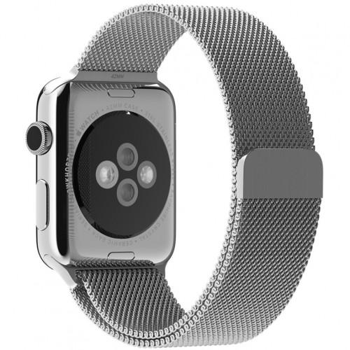 Ремешок для Apple Watch 42/44mm Silver Milanese Loop