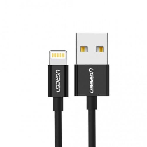 Кабель Lightning/USB UGreen 2м. US155 (черный)