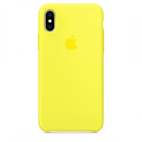 Силикон Apple iPhone X Original Желтый