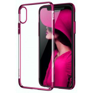 Силикон Apple iPhone X Cafele (розовый)