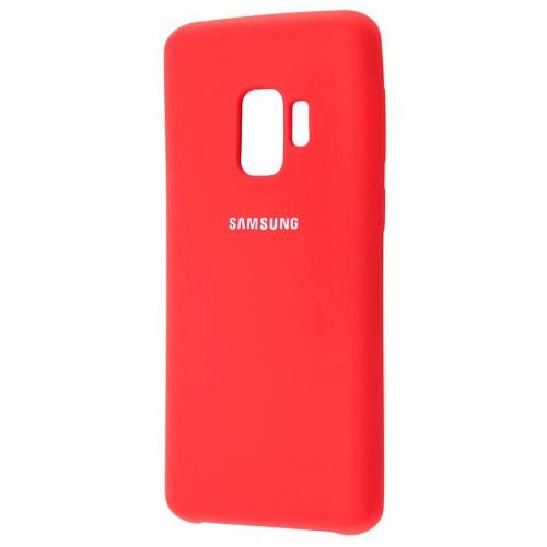 Силикон Soft Touch Samsung S9 (Красный)