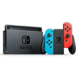 Портативная игровая приставка Nintendo Switch V2 with Neon Blue and Neon Red Joy-Con V2