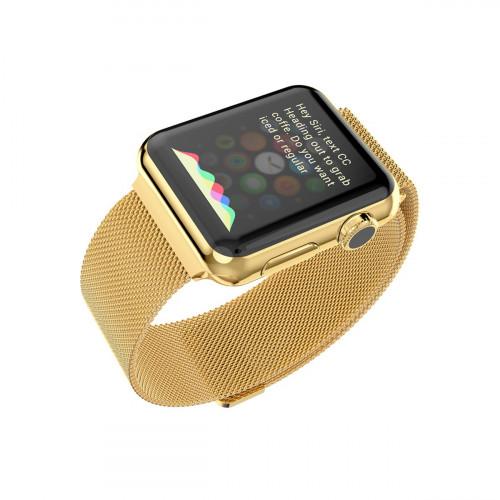Ремешок для Apple Watch 42/44mm Gold Milanese Loop