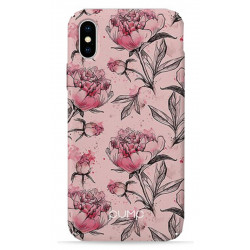 Чехол Pump Plastic Fantastic iPhone X Pink Pionies
