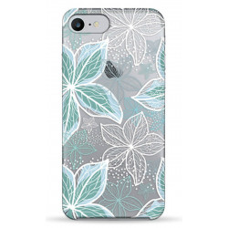 Чехол Pump Transperency  iPhone 8/7 Blue Flowers