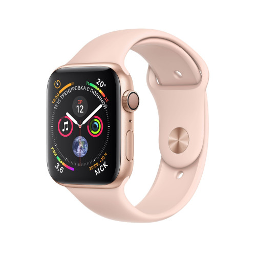 Apple Watch Series 4 (GPS) 44mm Gold Aluminum Case with Pink Sand Sport Band MU6F2