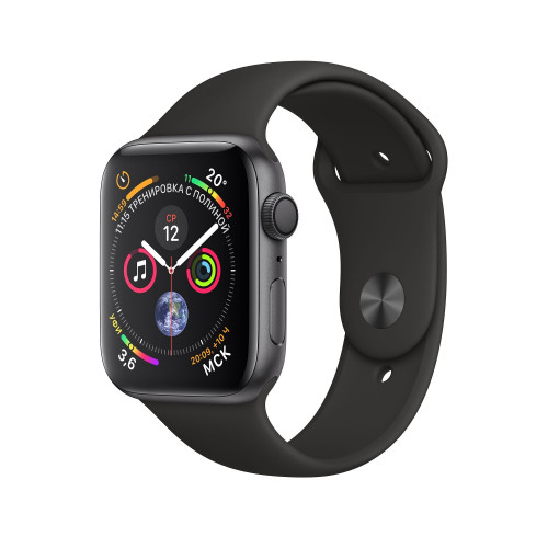 Apple Watch Series 4 (GPS) 40mm Space Gray Aluminum Case with Black Sport Band MU662