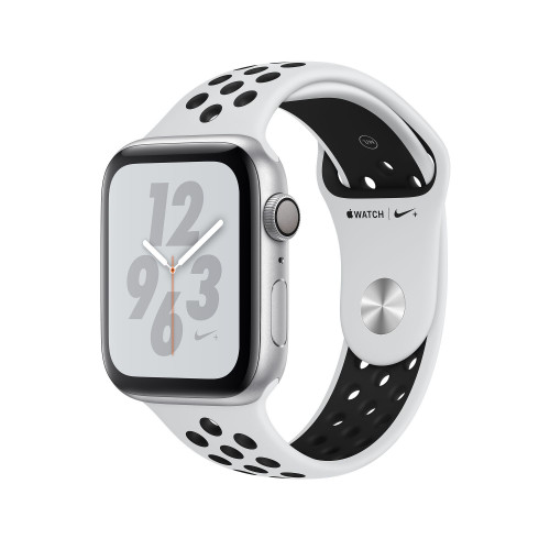 Apple Watch Nike+ Series 4 (GPS) 44mm Silver Aluminum Case with Pure Platinum/Black Nike Sport Band