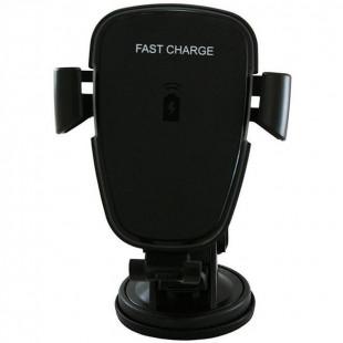 Автодержатель с беспроводным ЗУ JPD-1801/Q71T  (черный)
