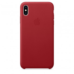 Кожаный чехол Apple Leather Case (PRODUCT) RED (MRWK2) для iPhone XS
