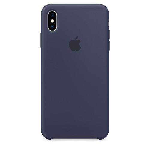 Силиконовый чехол Apple Silicone Case Midnight Blue (1:1) для iPhone XS Max