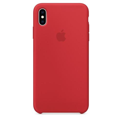 Силиконовый чехол Apple Silicone Case Red (1:1) для iPhone XS