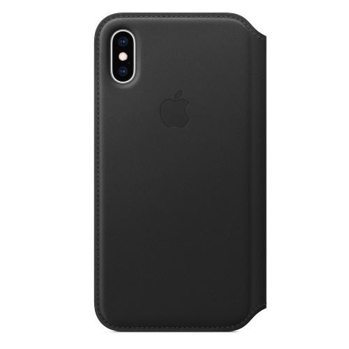 Кожаный чехол Apple Leather Folio Black (MRX22) для iPhone XS Max