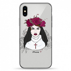Чехол Pump Transperency iPhone X Flowers Religion