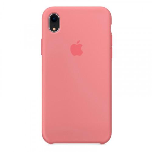 Силиконовый чехол Apple Silicone Case Peony Pink (1:1) для iPhone XR
