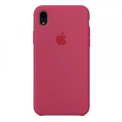 Силиконовый чехол Apple Silicone Case Rose Red (1:1) для iPhone XR