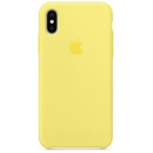 Силиконовый чехол Apple Silicone Case Lemonade (1:1) для iPhone XS