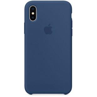 Силиконовый чехол Apple Silicone Case Ocean Blue (1:1) для iPhone XS