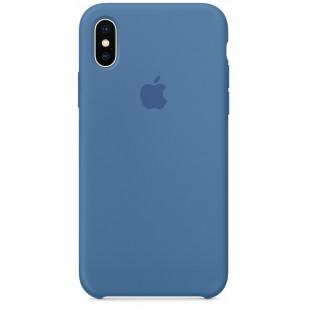 Силиконовый чехол Apple Silicone Case Denim Blue (1:1) для iPhone XS