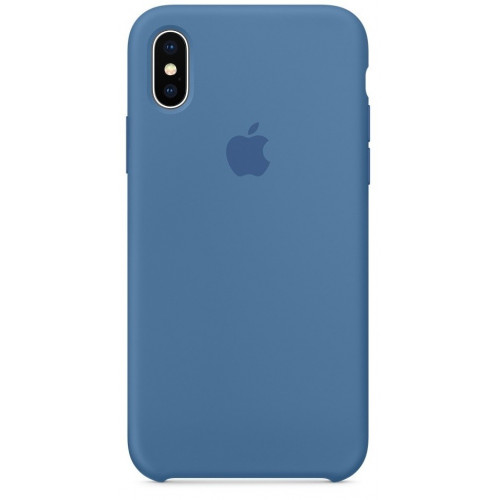 Силиконовый чехол Apple Silicone Case Denim Blue (1:1) для iPhone XS