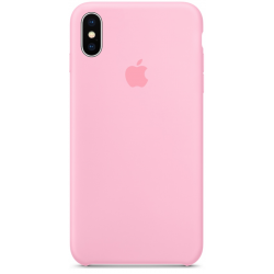 Силиконовый чехол Apple Silicone Case Light Pink (1:1) для iPhone XS Max