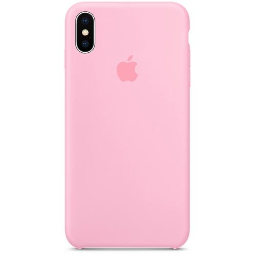 Силиконовый чехол Apple Silicone Case Light Pink (1:1) для iPhone XS Max