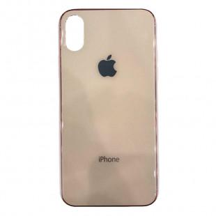 Накладка Glass Case Apple IPhone XR (Персик)