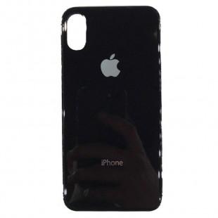 Накладка Glass Case Apple IPhone XR (Черный)