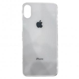 Накладка Glass Case Apple IPhone XS Max (Белый)
